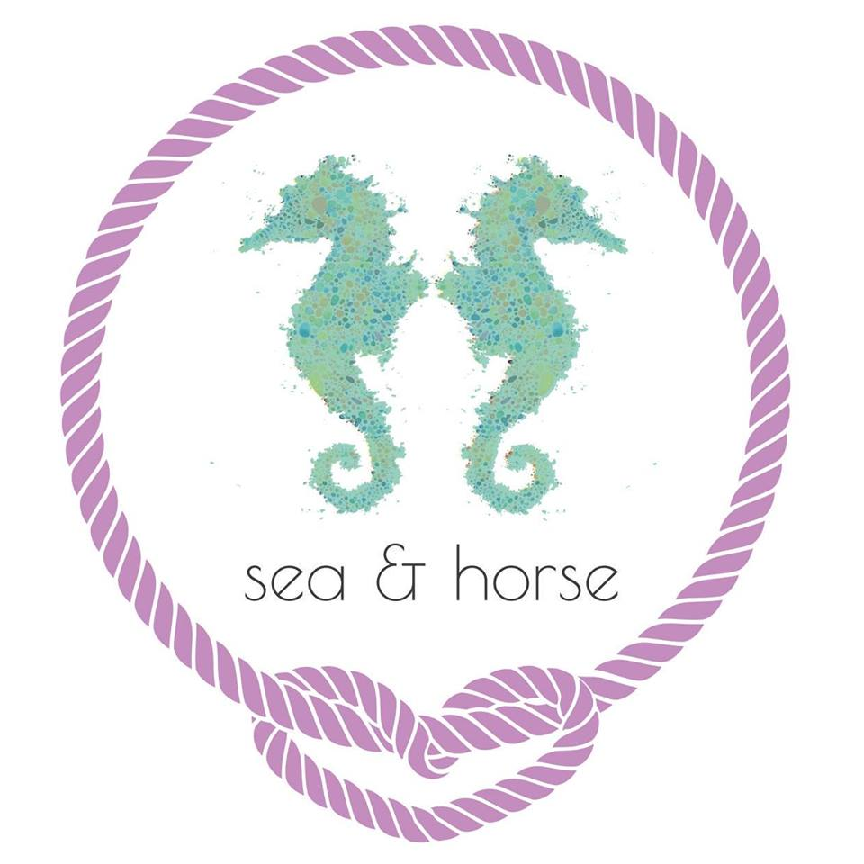 logo sea and horse
