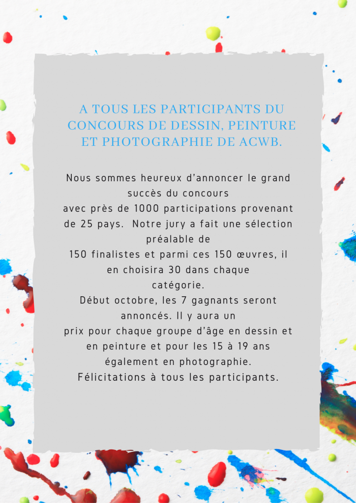 Competitors of the ACWB drawing, painting and photography contest