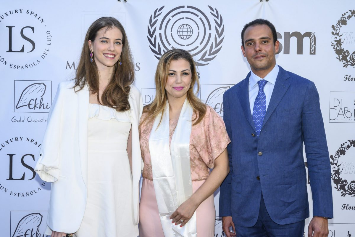 Soumaya Akbid, presidenta de  Art & culture without borders en Fiesta Arabe a beneficio de la fundacion