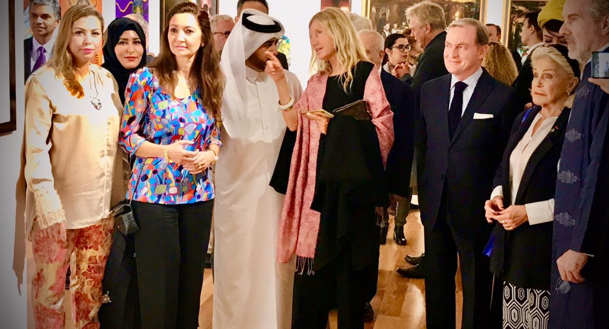 Soumaya Akbib,the Spanish Ambassador, Dr Al-Sulaiti, Romy Querol, French Ambassador Frank Gellet and H.R.H Princess Beatrice of Orleans
