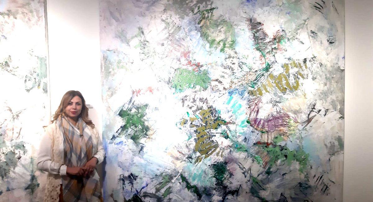 Soumaya showing the work of artist Kico Camacho